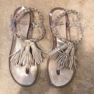 Stuart Weitzman Tassel jelly sandals